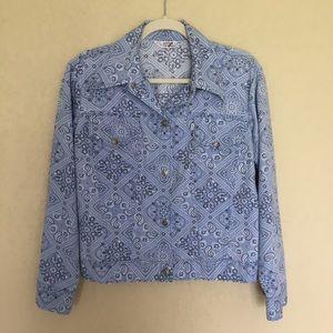 Vintage 70's Levi's Paisley Jacket Blue